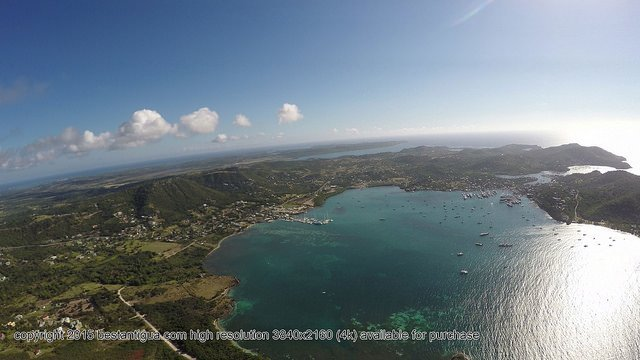 The View Across Liberta towards Falmouth from above Rendezvous Bay Area.