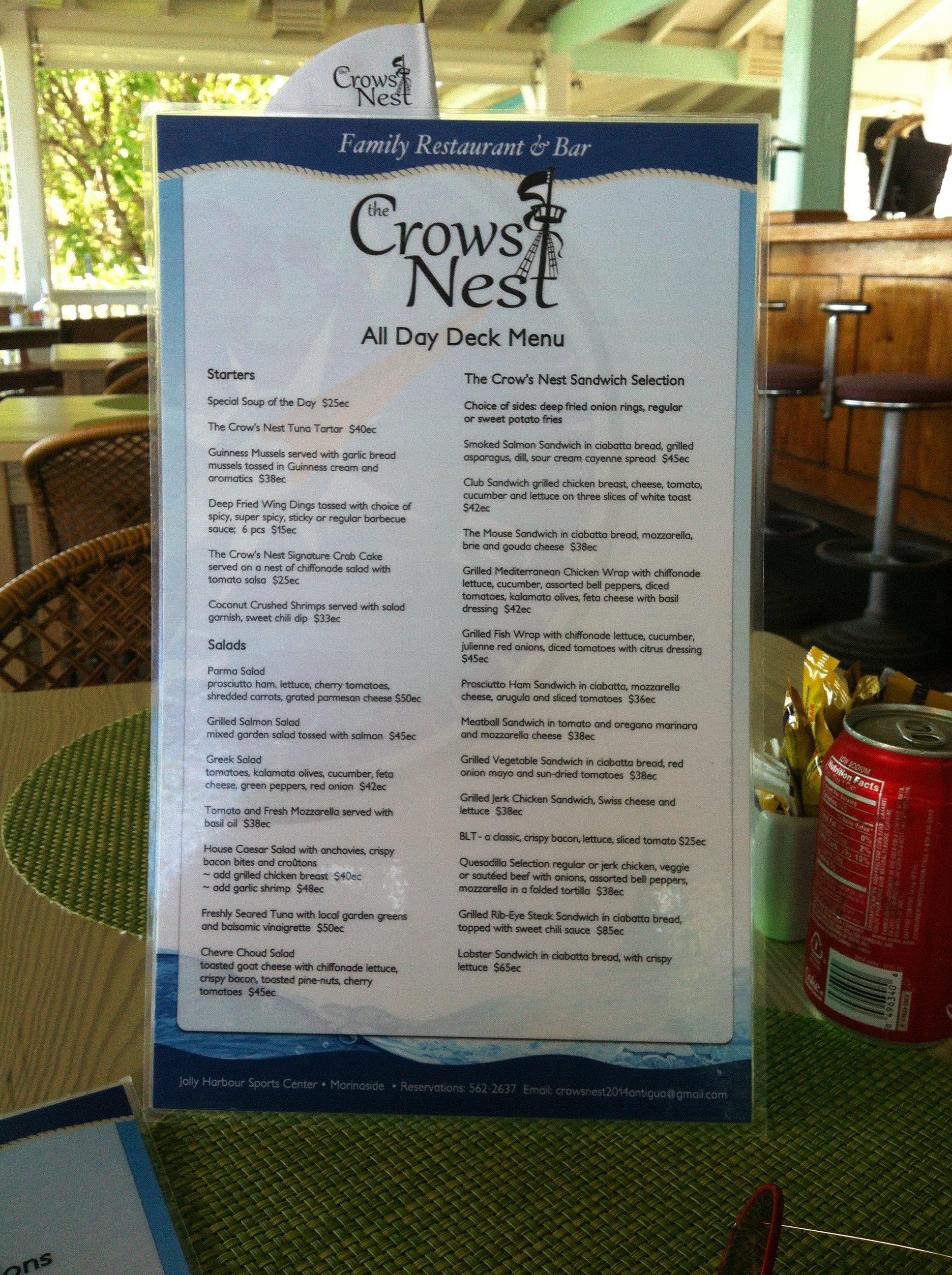 crows_nest_menu