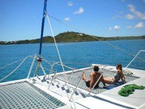 Enjoying time on the ocean around Antigua